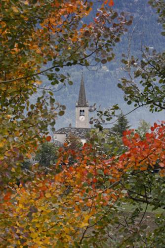Vittorio Puggioni-St. Nicolas, la chiesina in autunno-3266